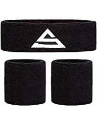 Sports Stable sweatbands- Absorbent sweatband set for your wrists and head. -One headband and a pair of wristbands included