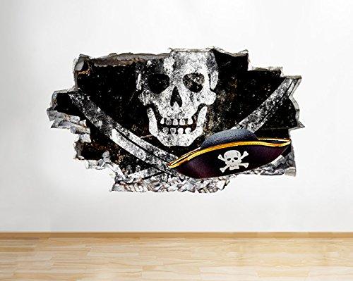 tekkdesigns q390W pirata Calavera niños dormitorio Smashed...