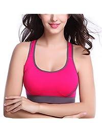 ISASSY Damen Sport-BH mit Pushup Funktion wattiertes Sport BH ohne Bügel für Radfahren, Joggen, Tanzen, Yoga und Aerobics