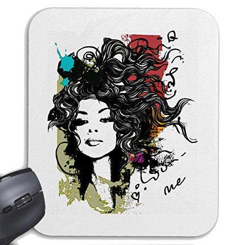 mousepad-mauspad-i-love-me-buntes-graffiti-gesicht-augen-lippen-nase-haare-dauerwelle-friseur-frisur