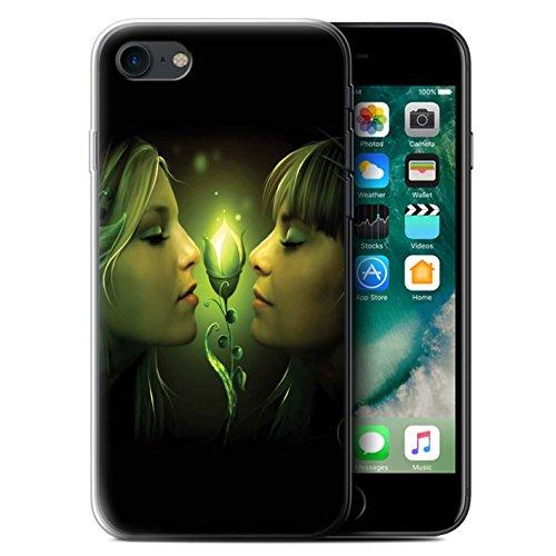 Officiel Elena Dudina Coque / Etui Gel TPU pour Apple iPhone 7 / Distraits Design / Art Amour Collection Relation amicale
