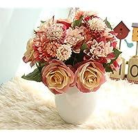 Sisthirth Flores Artificiales, Flores Falsas Flores de Seda Boda plástica 10 Cabezas Ramos de Rosas