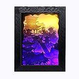 USB3D Carta Creativo Carving Lampada, Carta Incisione Lampada, Padiglione Carta Pieghevole Lampada D'intaglio, Luce di Notte Art Design 23.9Cmx18.7Cm