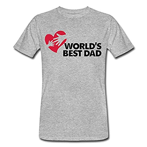 Best Father of the World Men's Organic T-shirt by Spreadshirt®‎, XXL, heather grey