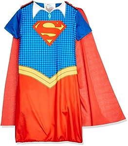 DC Comics - Disfraz de Supergirl oficial para niña, infantil 7-8 años (Rubie