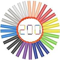 Hiveseen 200 Pcs Flechette Mousse Balle Recharge De Nerf , 7,2cm , 10 Couleur Nerf Flechettes Couleurs Fluorescence Pour Nerf Elite Blasters Rebelle Mega N Strike Modulus Zombie,