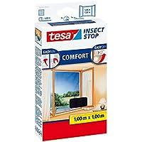 tesa Insect Stop COMFORT Fliegengitter für Fenster/Zuschneidbares Moskitonetz mit Klettband zum Kleben