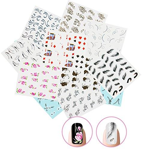 ticker Wrap Wasser Transfer Aufkleber Tattoo Tips Idee als Nail Art/Phone Case/Einladungskarten Dekoration TYP 1 (Nail Art Halloween-ideen)