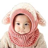 SevenPanda Kinder Baby Junge Mädchen Schalmütze Tier Warm Halten Mütze - Rosa