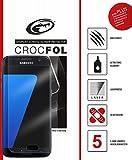 Samsung Galaxy S7 Edge Schutzfolie, 100% Abdeckung des kompletten Displays, Panzer-Folie, Ultraklarer Kratzschutz mit Anti-Shock, CROCFOL PLUS EDGE HD, DIE-FOLIE, kein Panzer-Glas Schutz-Glas oder Hart-Glas - besser, 2-Pack für das Original Samsung Galaxy S7 Edge, Hergestellt in Deutschland