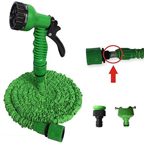 Zantec Dehnbarer flexibler Hochdruckwasserpistolen Sprühschlauch für das Waschen von Auto Bewässerungsanlagen