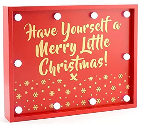 Light Up Schild Have Yourself A Merry Christmas