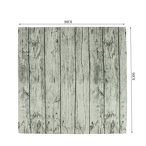 Manteles Retro, CONMING Retro Wood Stripe Clásico Toalla de Prueba de Polvo Lino Vintage Impreso Tela de Lino-Lino Cubiertas de Mesa Grande para Comedor Cocina Decoración Restaurante