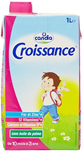 Candia Lait de Croissance 10 mois 3 ans Brique 1 L - Lot de 3
