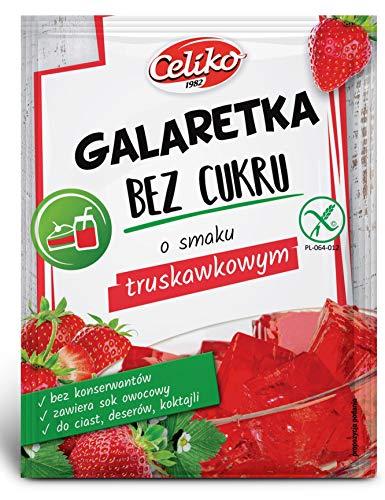 Götterspeise ohne Zucker Erdbere Geschmack 10 x14 G Glutenfrei
