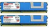 Komputerbay 8GB (2x 4GB) 240 Pin 800MHz DDR2 PC2-6400F ECC Fully Buffered modulo di memoria FB-DIMM