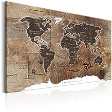 GroB Decomonkey | Bilder Weltkarte 120x80 Cm XXL | 1 Teilig | Leinwandbilder |  Bild Auf Leinwand