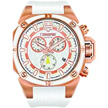 Techno Sport Chrono Reloj para mujer - oro rosa/blanco