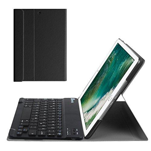 Fintie iPad 9.7 Zoll 2018 2017 / iPad Air 2 / iPad Air Bluetooth Tastatur Hülle Keyboard Case - Ultradünn leicht SlimShell Ständer Schutzhülle mit magnetisch abnehmbarer drahtloser deutscher Bluetooth Tastatur für Apple iPad 9,7'' 2018 / 2017, iPad Air 1 / 2, Schwarz
