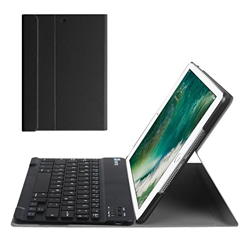 Case-abnehmbare Ipad 2 Tastatur (Fintie iPad 9.7 Zoll 2018 2017 / iPad Air 2 / iPad Air Bluetooth Tastatur Hülle Keyboard Case - Ultradünn leicht SlimShell Ständer Schutzhülle mit magnetisch abnehmbarer drahtloser deutscher Bluetooth Tastatur für Apple iPad 9,7'' 2018 / 2017, iPad Air 1 / 2, Schwarz)