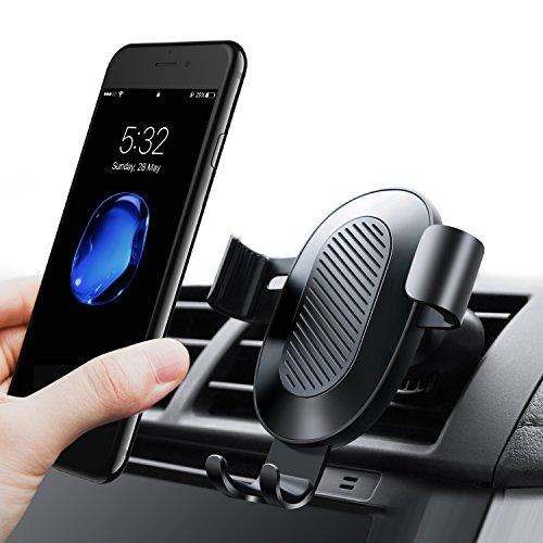 Handyhalterung Auto, TORRAS Universal Multi-Winkel Schwerkraft KFZ Halterung Auto Anti-Shake lüftung Autohalterung für iPhone 8 / 8 Plus / X / 7 / 7 Plus / 6S, Samsung und Andere Smartphones - Schwarz