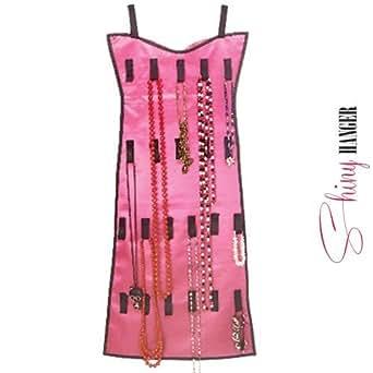 Oramics Schmuckhalter Kleid Schmuck-Organizer zur Schmuck Aufbewahrung in verschiedenen Ausführungen (Pink-Komplett)