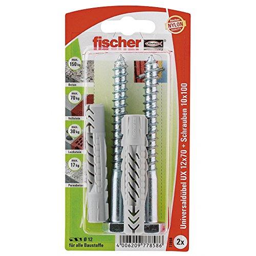 fischer-77858-12-x-70-mm-ux-sk-universal-plug-multi-colour-2-piece