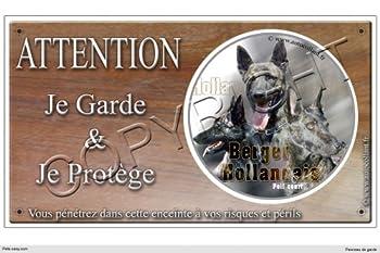Panneau chien ou plaque Berger-Hollandais-Poil-Court 30 cm