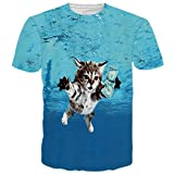 BFUSTYLE Unisex 3d Cat Like Money Printed Graphic T Shirt Tops