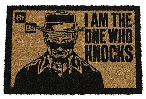1art1 87868 Breaking Bad - Ich Bin Derjenige der Anklopft, in Englisch Fußmatte Türmatte 60 x 40 cm