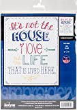 "Janlynn Stamped Embroidery Kit 8""X10"" - Life Lived - Stitched In Floss (Pack of 1 )"
