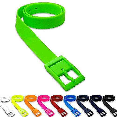 1 St. SoulCats® cintura alla moda in silicone in molti colori unisex neon arancione giallo rosa blu