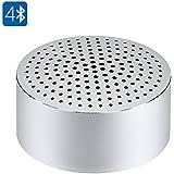 SHOPINNOV Mini Enceinte Bluetooth 4.0 Alliage aluminium Mains libres Reduction de bruit Modele Argent