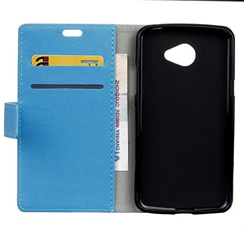 LG K5 Case, Einfarbig Kas Textur Muster Leder Schutzhülle Case Horizontal Flip Stand Hülle mit Kartensteckplätzen für LG K5 ( Color : Red , Size : LG K5 ) Blue