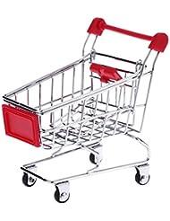 Métal Mini Shopping Cart chariot jouet pour animal domestique Oiseau Perroquet Conures inséparables de perruche calopsitte élégante