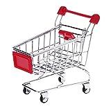 Mini-Einkaufswagen aus Metall für Haustiere, Vögel, Papageien, Sittiche, Wellensittiche, Nymphensittiche