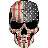 QLOL Voiture Autocollant Sticker 9.4CM * 15.2CM Punisher Crâne Drapeau Américain Réaliste Crâne Stickers Rétro Réfléchissant Autocollants De Voiture
