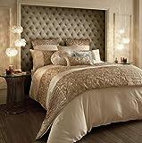 Kylie Minogue at Home Marnie Gold Bettwäsche, luxuriöse Designer-Bettwäsche, Doppelbettbezug