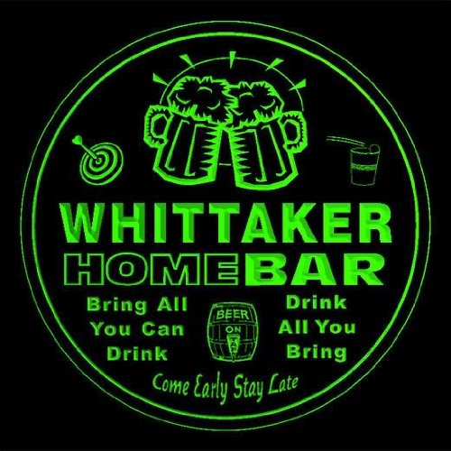 4x-ccq48270-g-whittaker-family-name-home-bar-pub-beer-club-gift-3d-coasters