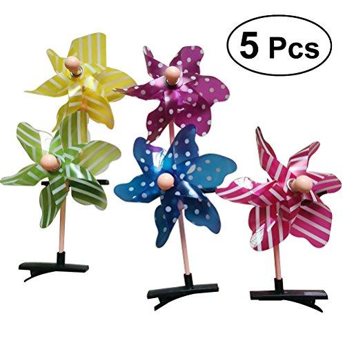 frcolor 5x Windmühlen Haar Clip Cute Haar Alligator Clip Haarspangen Haarspange für Kinder Kleinkind (unterschiedliche ()