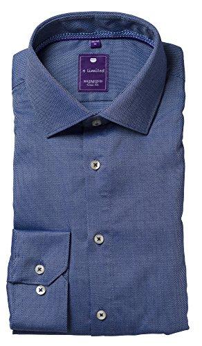 Redmond Hemd 4 Limited Slim fit blau gemustert Kent Blau