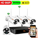CORSEE Plug and Play 960P Überwachungskamera Kit,8 Kanal NVR mit hochauflösend 960P Wifi IP Kameras im Außenbereich,Schnelle Netzwerkansicht per Handy und PC,ohne Festplatte