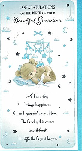 new baby grandson card baby boy congratulations on the birth of