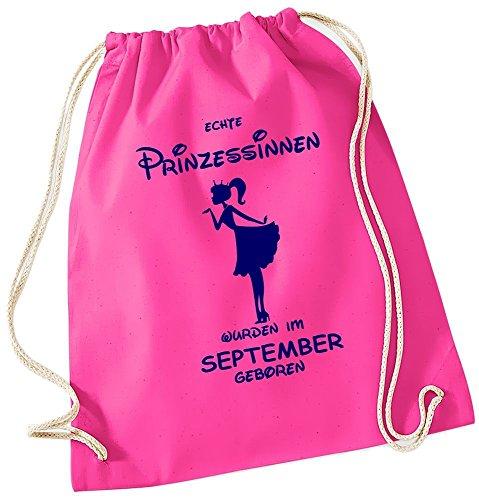 ECHTE PRINZESSINNEN WURDEN IM SEPTEMBER GEBOREN ! Gymbag Pink (Prinzessin Reiten Pferd Kostüm)