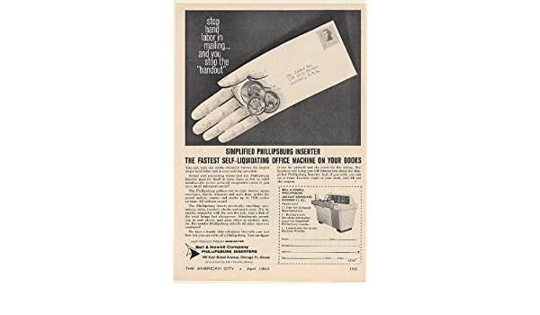 1963 Bell & Howell Phillipsburg Inserter Office Mailing