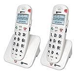 Geemarc AmpliDECT 260 DUO - 2 schnurlosen Schwerhörigentelefone mit Sprachansage Deutsche Version