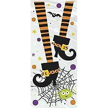 Celofán fantasmagórica del fiesta de Halloween Bolsas Botas, paquete de 20