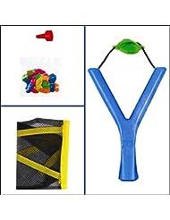 Kids césped jardín verano toy-sling Bomba de agua Shot catapulta con 20globos para gran ocio al aire libre (azul)