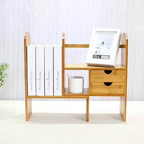 Bibliothèque Sexy Bamboo Desktop télescopique Office Mesa Simple Bamboo Creativity