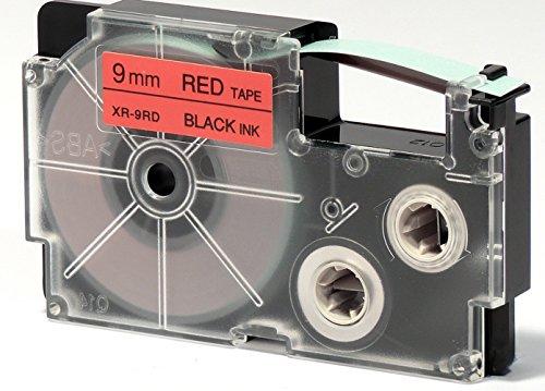 CASIO EZ-Label Printer XR-9RD1 Schriftband selbsthaftend 9 mm x 8,0 m schwarz auf rot